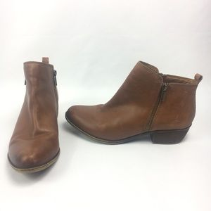 lucky brand Size 9 M Basel Brown Zip bootie